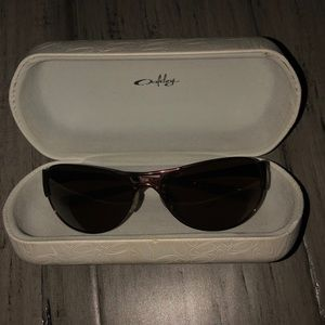 Rose Gold OAKLEY sunglasses
